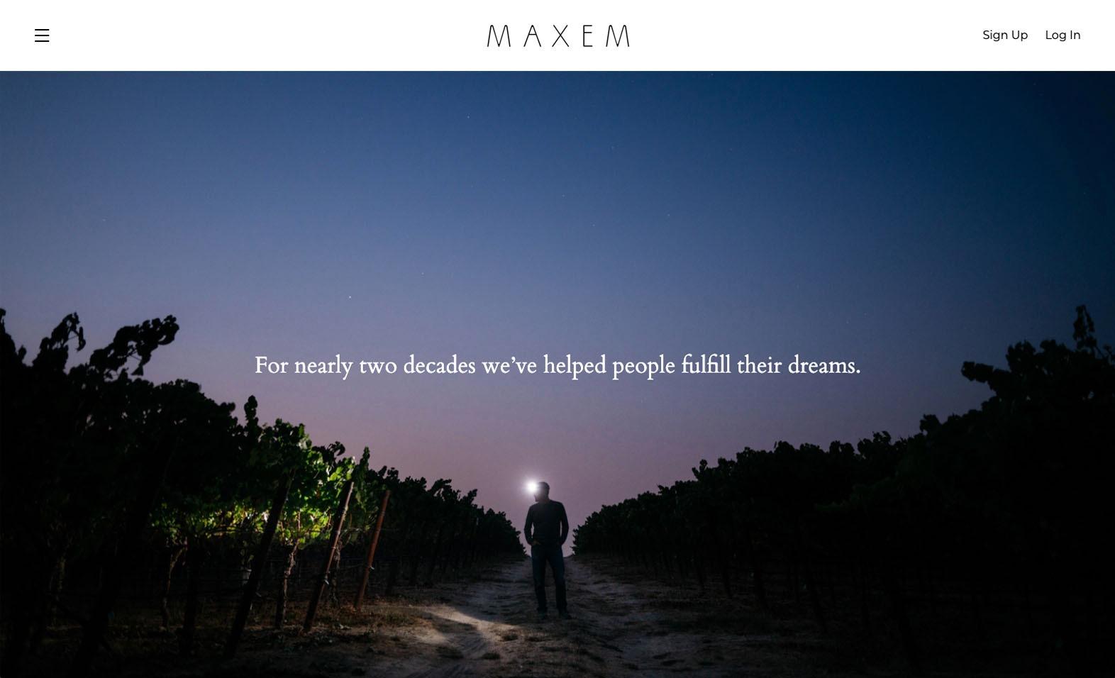 Maxem Wine Website