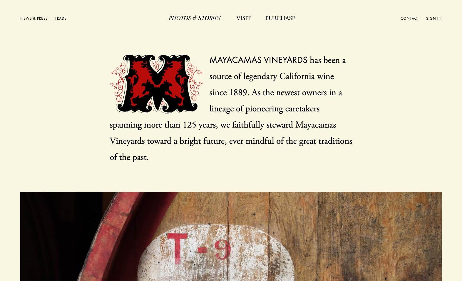 Mayacamas Website