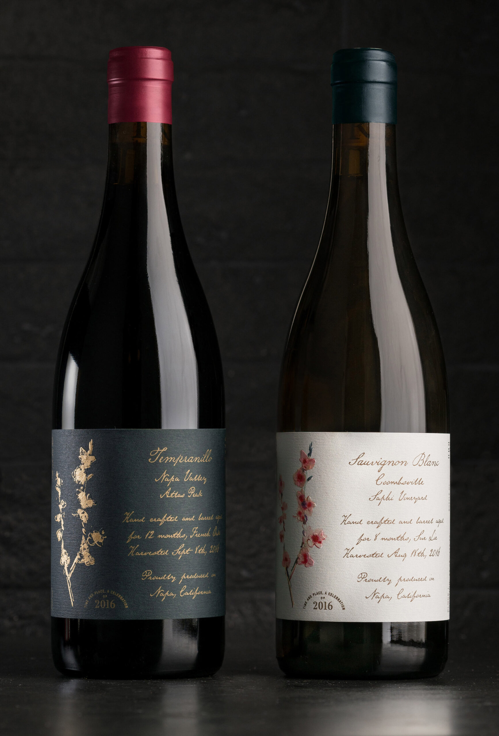 Revik Wine Co. Packaging Pinot Noir and Chardonnay