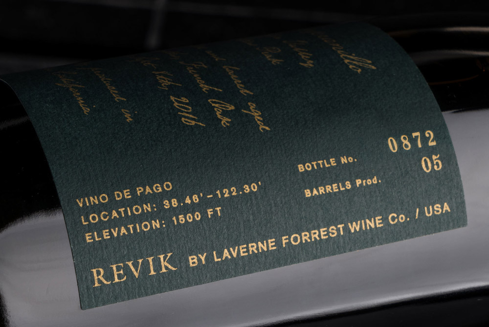 Revik Wine Co. Packaging Details
