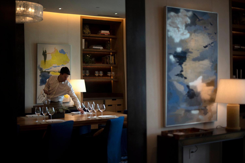Paul Hobbs Winery setting up the tasting room