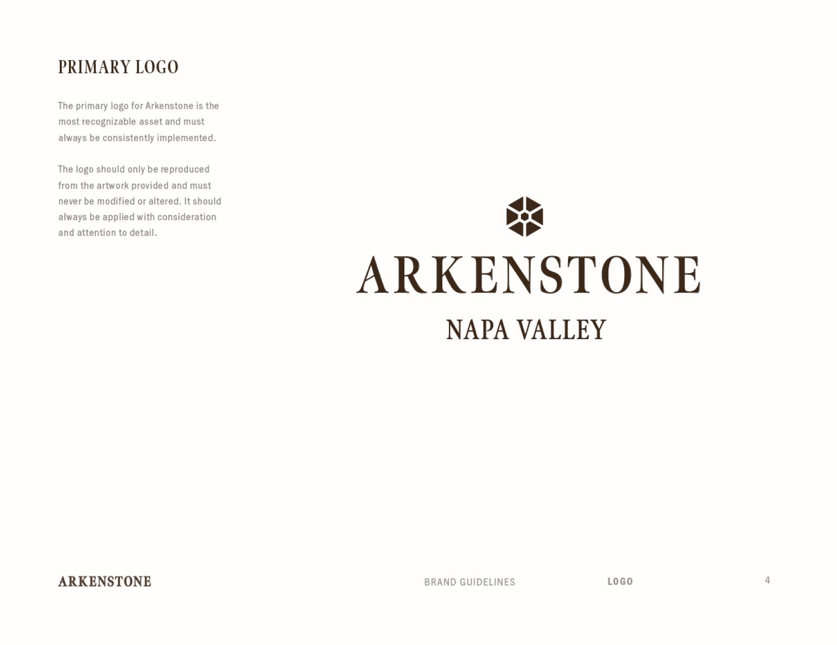 Arkenstone brand standards primary logo