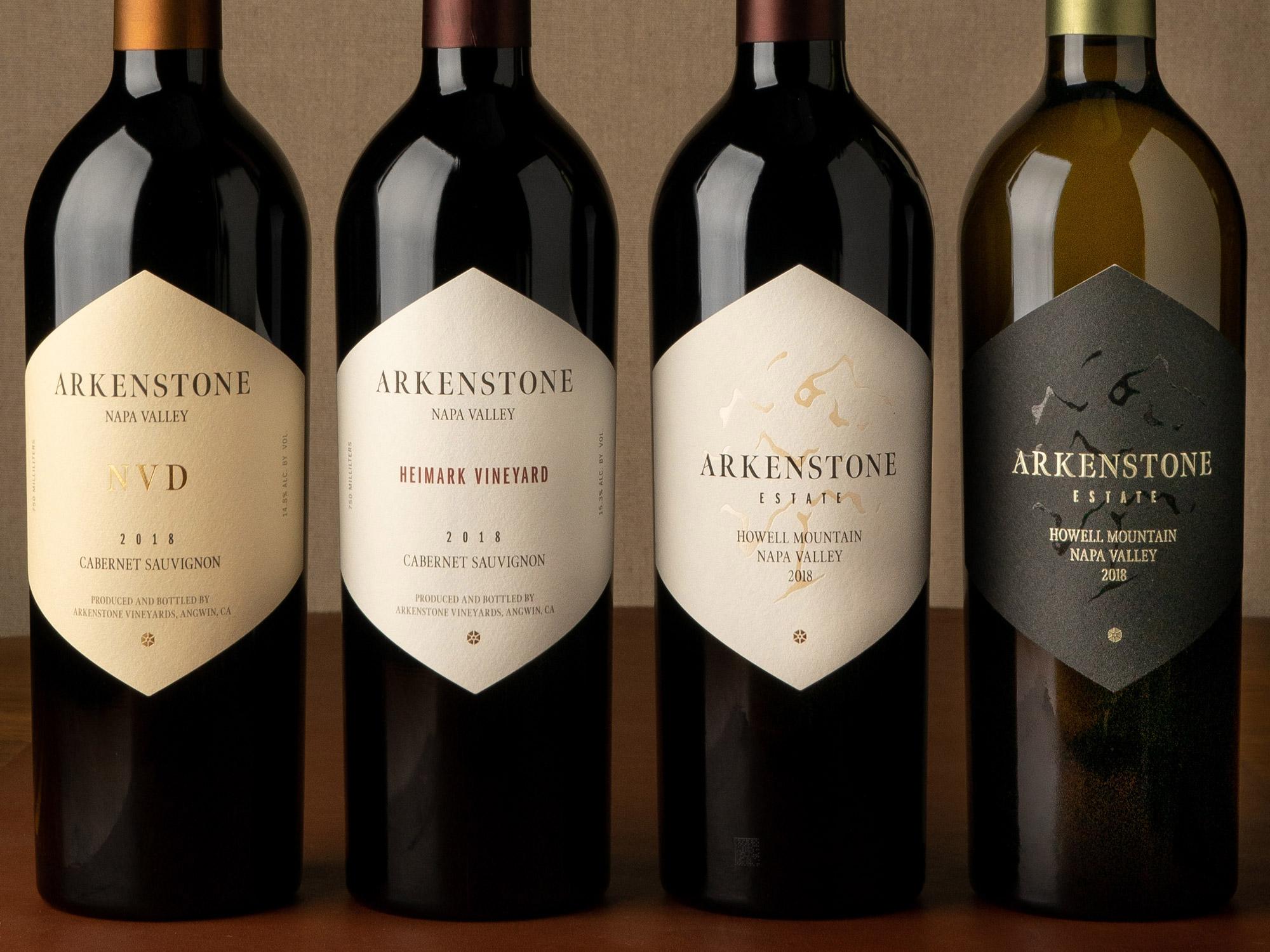 Arkenstone Vineyards packaging