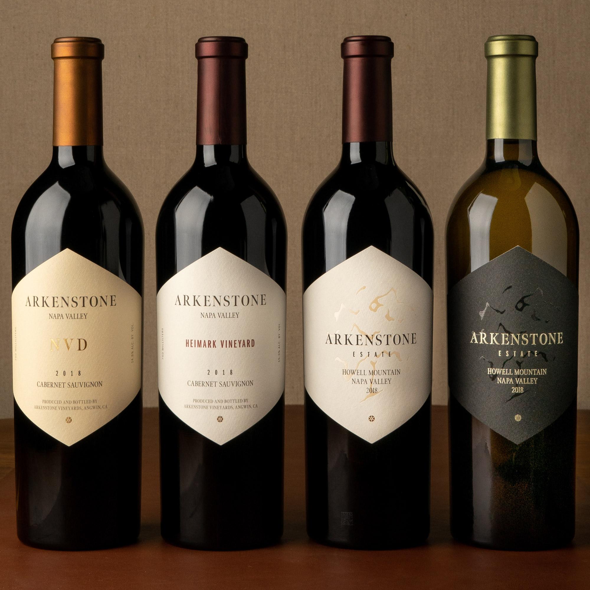 Arkenstone packaging portfolio of wines