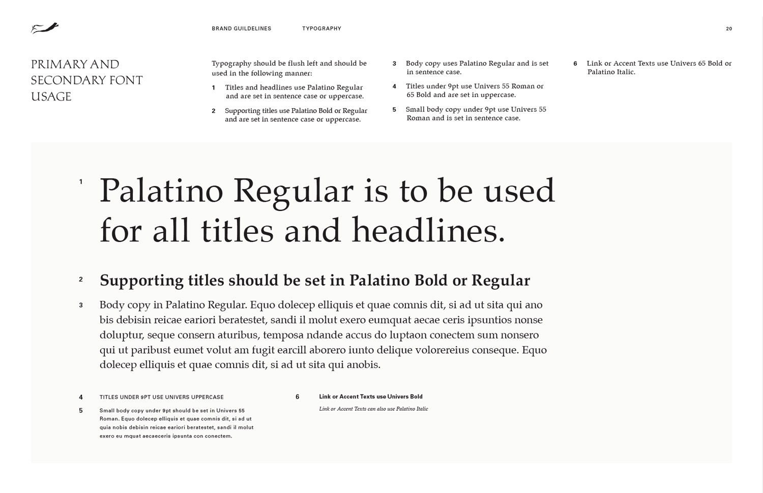 Frog's Leap visual identity guidelines typefaces