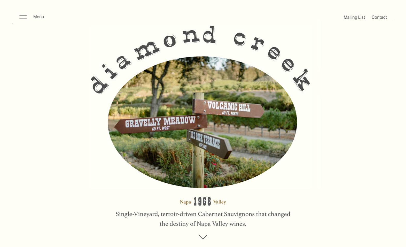 Diamond Creek website