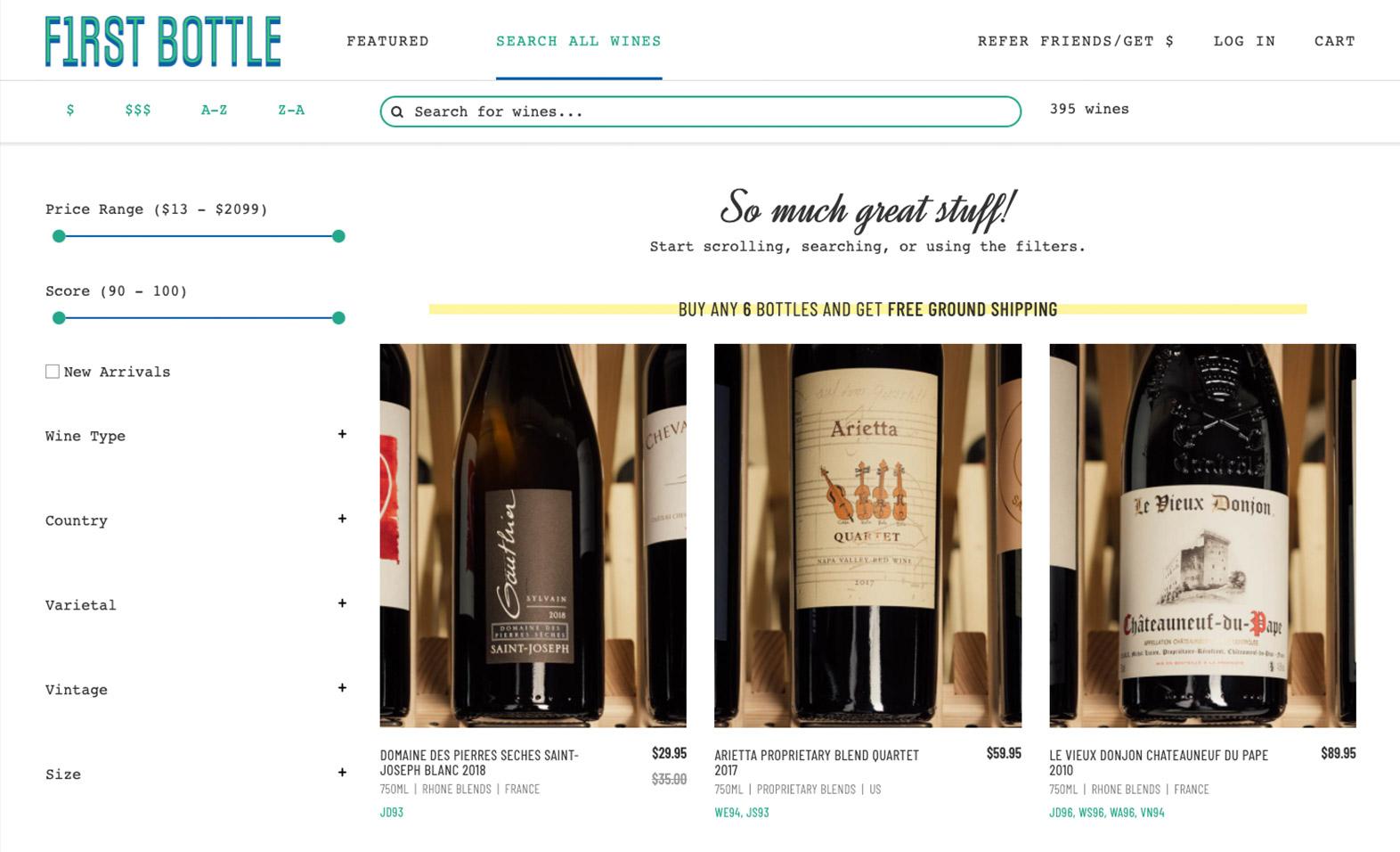 First Bottle Website