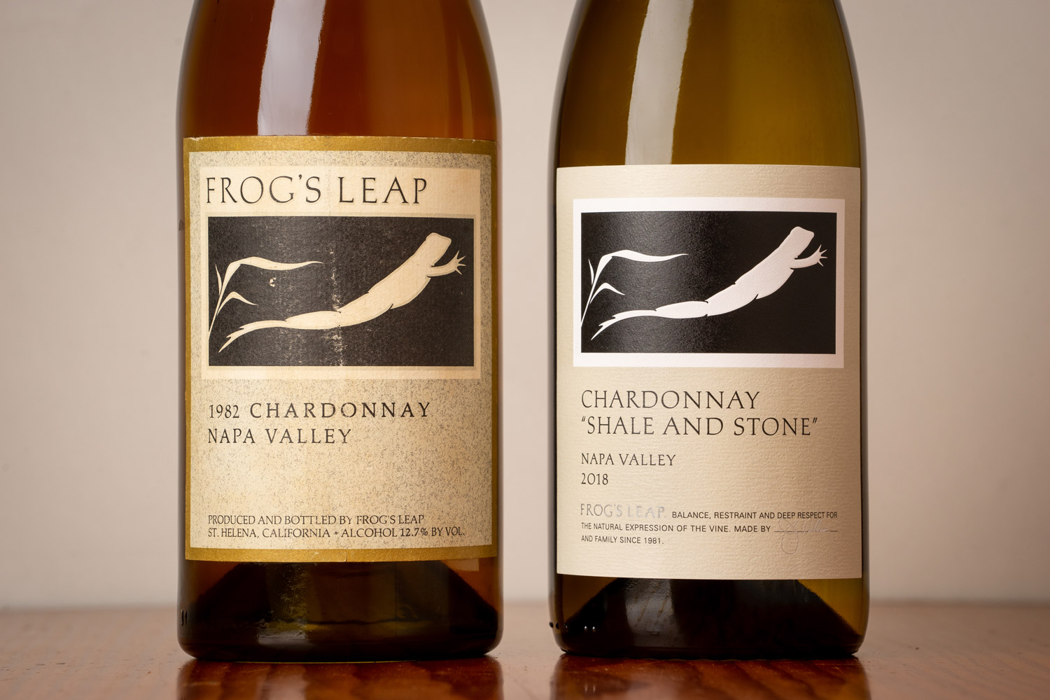 Frog's Leap Chardonnay before and after