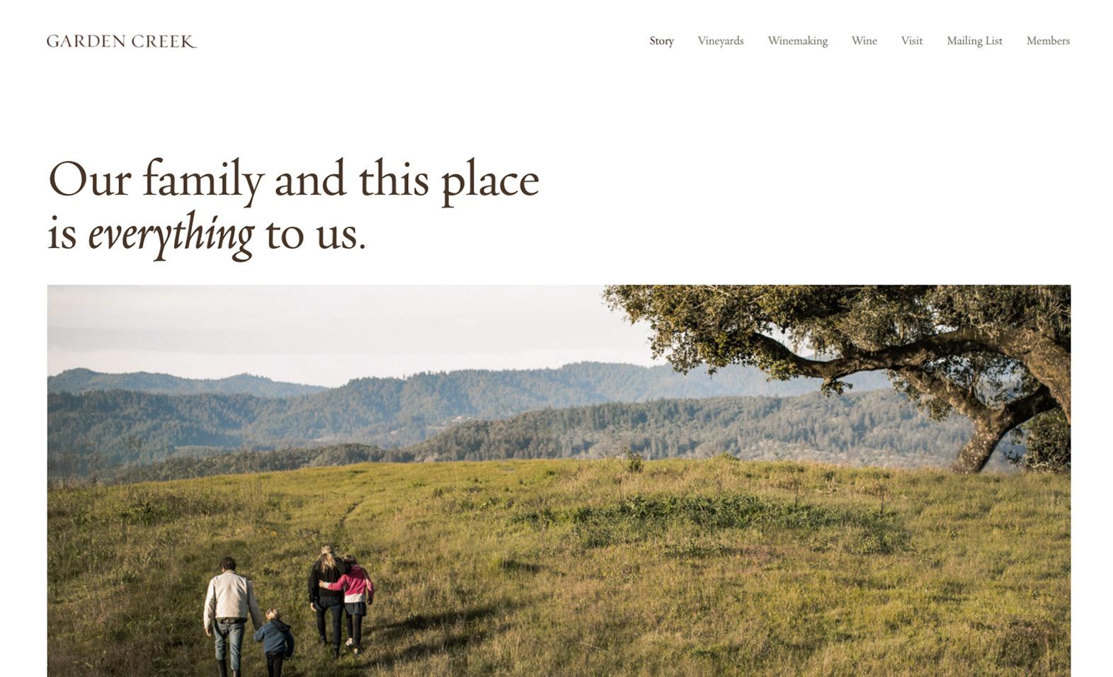 Garden Creek website