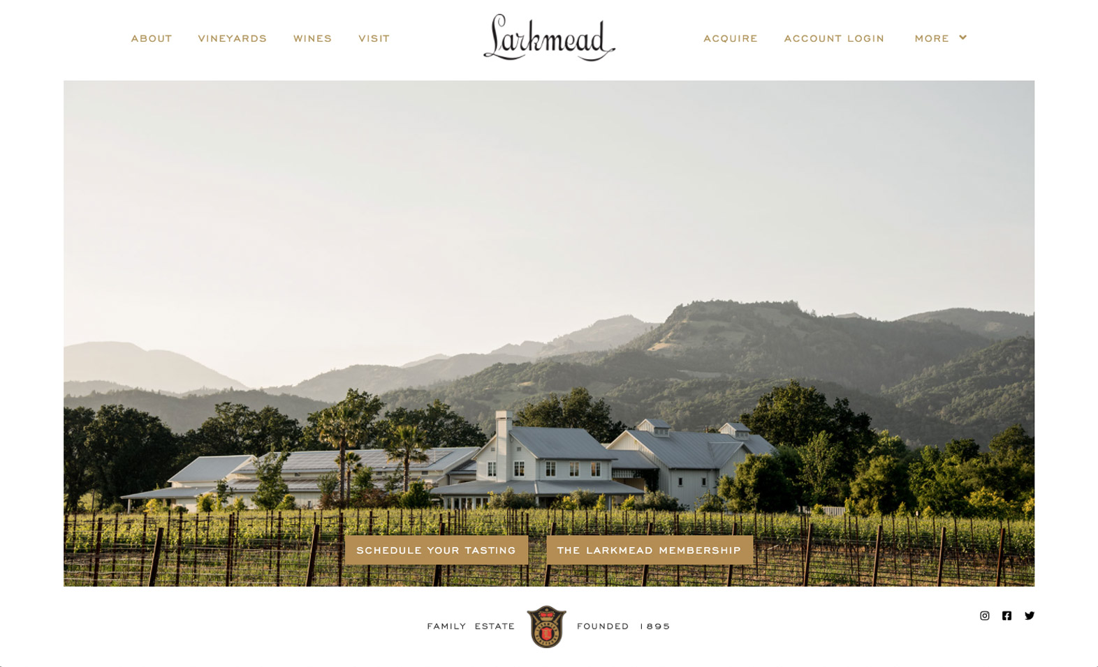 Larkmead Vineyards Website