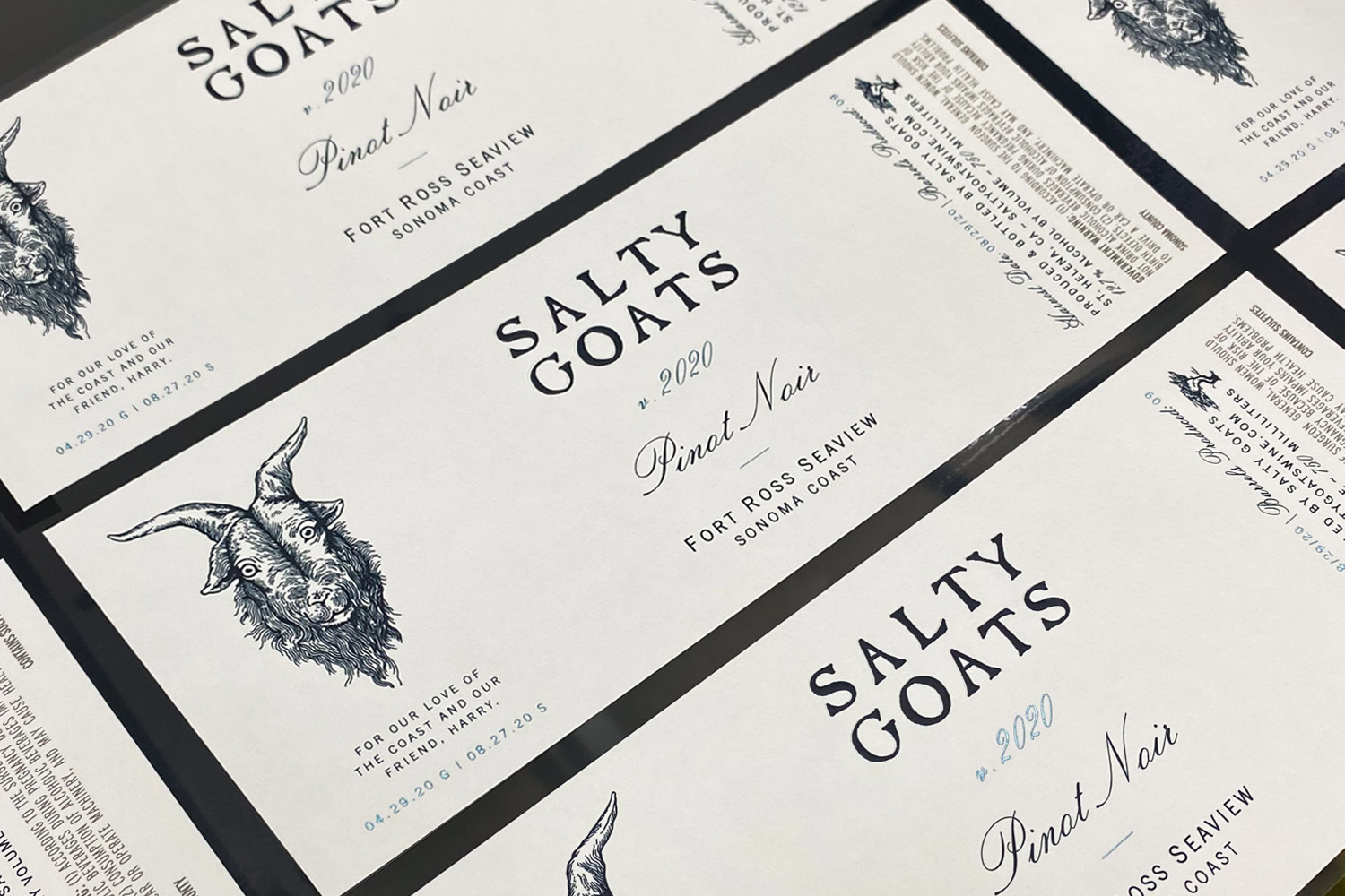 Salty Goats packaging