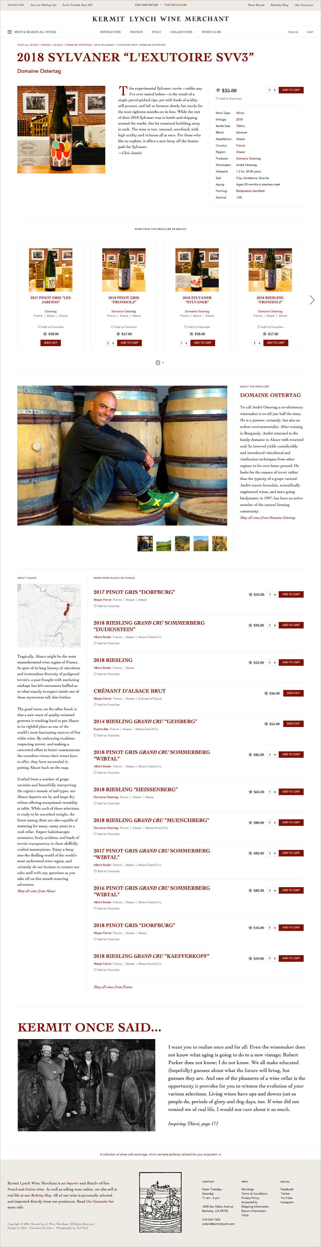 Kermit Lynch Wine Merchant Product Page